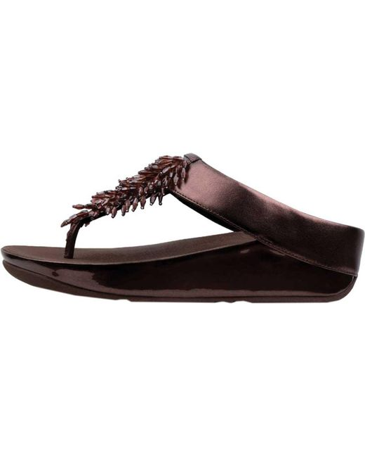 9611af553881a9 ... Fitflop - Multicolor Rumba Wedge Thong Sandal - Lyst ...