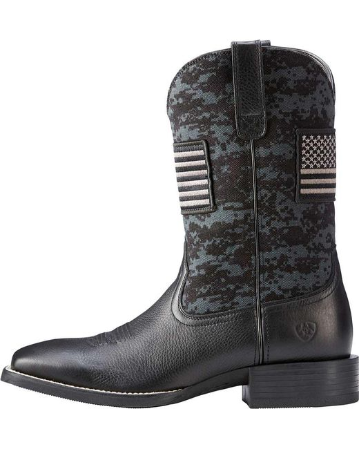 d77d783e8a6 Ariat Sport Patriot Western Boots in Black for Men - Lyst