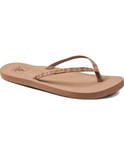 Reef | Brown Slim Ginger Beads Thong Sandal | Lyst