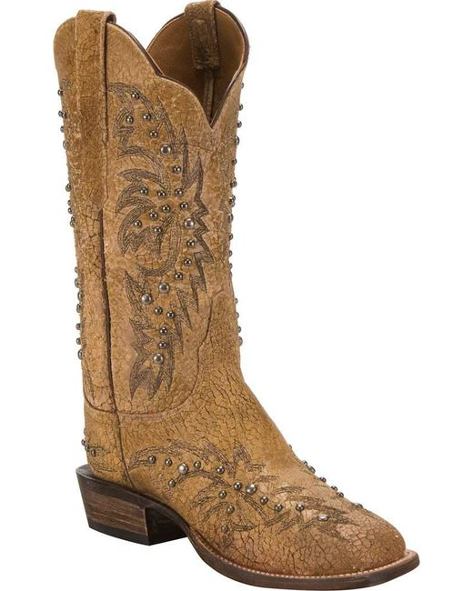 Lucchese Bootmaker - Brown Cy2503.w8s Toe Cowgirl Boot - Lyst