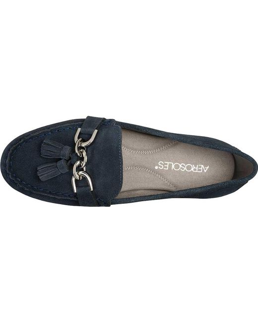 18a533b04b5 Lyst - Aerosoles Soft Drive Loafer in Blue - Save 12.658227848101262%