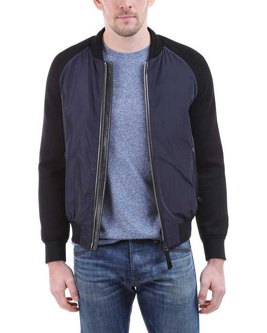 Mackage - Blue Granger Color Block Bomber Jacket for Men - Lyst