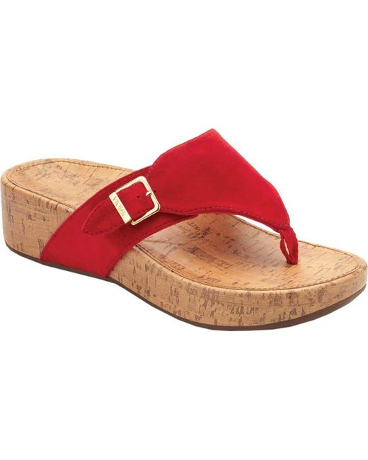 e4334aa03 Lyst - Vionic Marbella Thong Sandal in Red - Save 36%