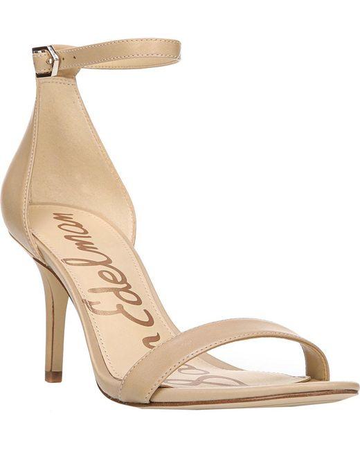 Sam Edelman - Natural Patti Ankle Strap Sandals - Lyst