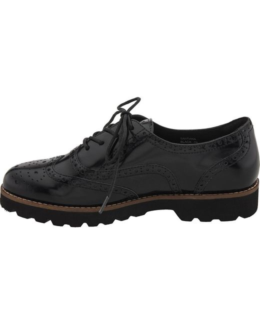 a569b5c05a5 ... Earthies - Black Santana Wingtip Oxford for Men - Lyst ...