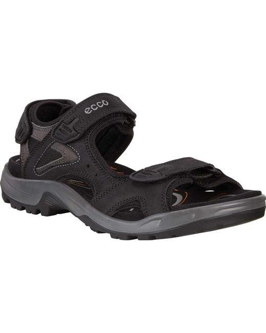 62eb6791aea1 Ecco - Black Offroad Lite Ii Walking Sandal for Men - Lyst ...