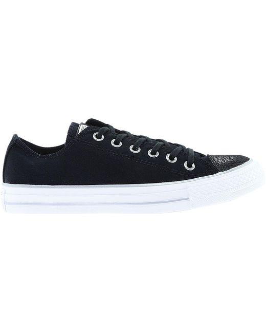 b3febcf192d078 ... Converse - Black Chuck Taylor All Star Metallic Toe Low Sneaker - Lyst  ...