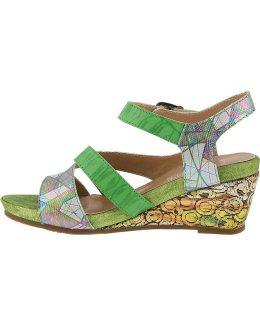 1639d194e2e2c ... Spring Step - Green Leanna Strappy Sandal - Lyst ...