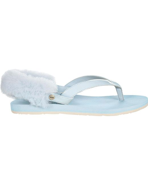 UGG® LaaLaa Patent Sheepskin Thong Sandals lpWAfGGCe
