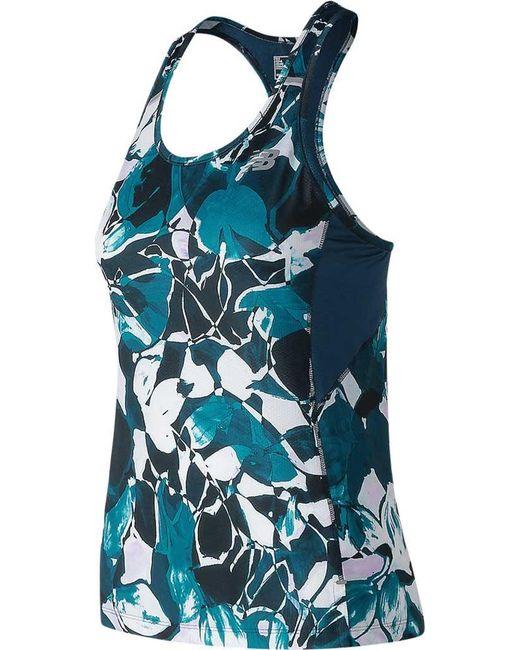 ddaa00baade3f Lyst - New Balance Nyc Marathon Nb Ice 2.0 Printed Tank in Blue ...
