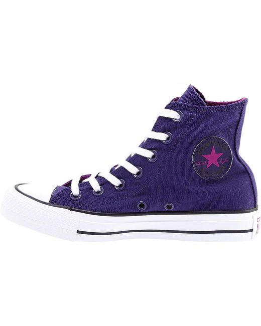 c5a4d2069b9c ... Converse - Purple Unisex Adults  Chuck Taylor All Star Hi-top Trainers  for Men ...