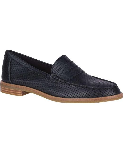 31dfe2efc37 Lyst - Sperry Top-Sider Seaport Penny Loafer in Black - Save 54%