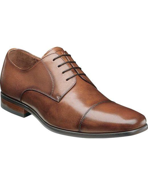 Florsheim Men's Postino Textured Plain Toe Derby VJ74F