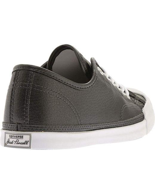 d8fc5982f2d3 ... Converse - Black Jack Purcell Lp Metallic Leather Ox Sneaker for Men -  Lyst ...