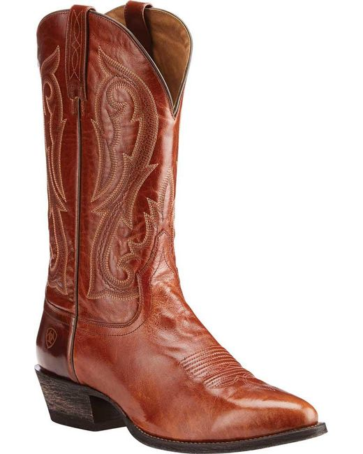 Ariat - Brown Circuit R Toe Cowboy Boot for Men - Lyst