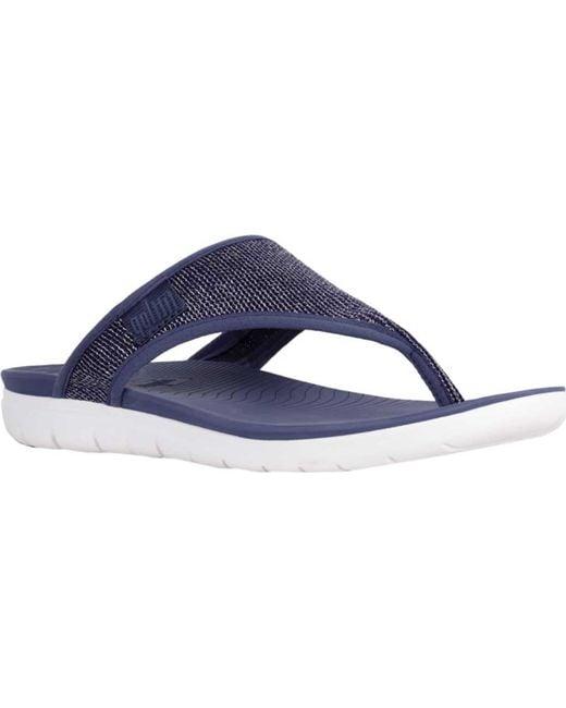 Fitflop - Blue Uberknit Thong Sandal - Lyst