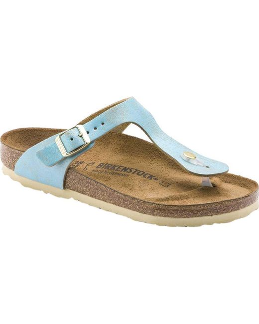 c4b7d2eed3e3 Lyst - Birkenstock Gizeh Leather Thong Sandal in Metallic