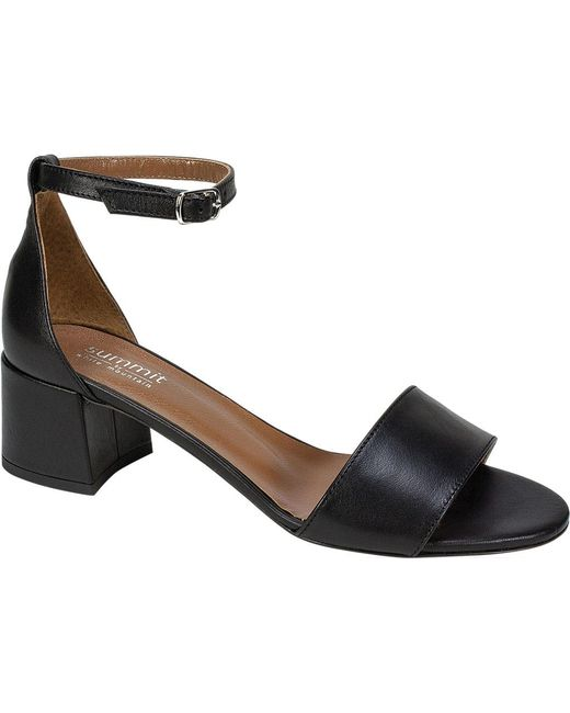 Summit White Mountain - Black Amelia Ankle Strap Block Heel Sandal - Lyst