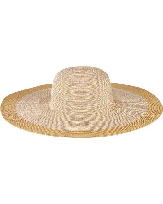 San Diego Hat Company - Natural Mixed Braid Large Brim Floppy Hat Mxl1016 - Lyst