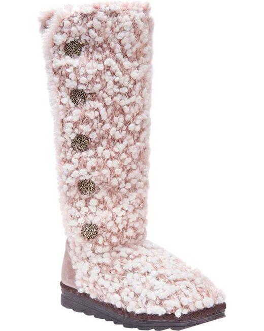 Muk Luks | Pink Felicity Snow Boot | Lyst