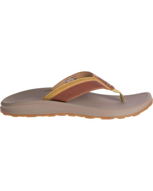 56b37a739cdf ... Chaco - Brown Playa Pro Leather Flip Flop for Men - Lyst ...