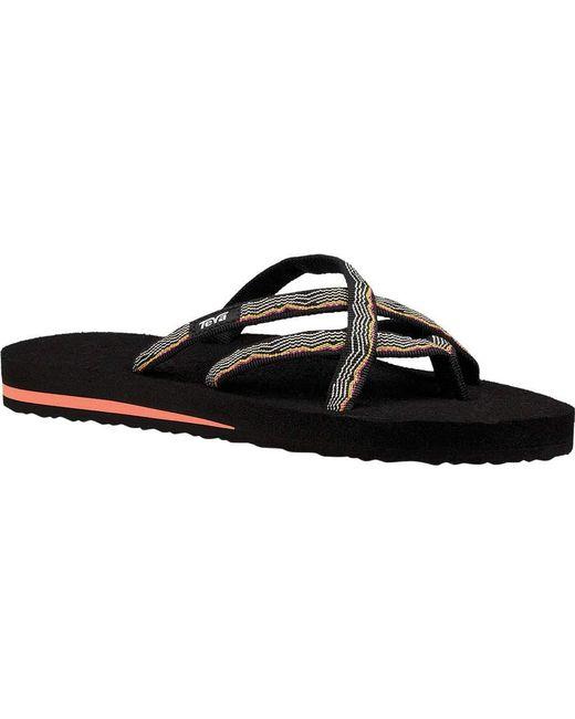 8ab5aa59883aa ... Teva - Black Olowahu Sandal - Lyst ... wholesale price 4f814 abfda ...