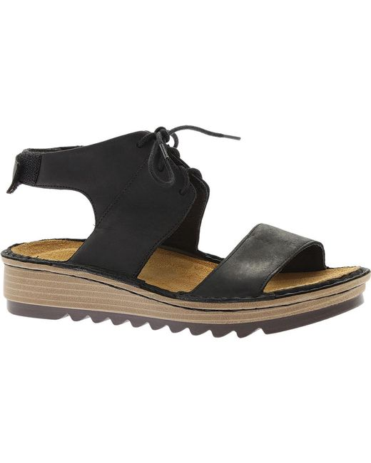 Discount View Naot Alpicola Wedge Sandal(Women's) -Saddle Brown Leather Discount Release Dates 1hHTS7