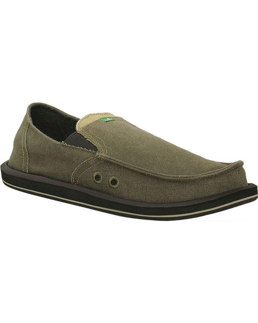 Sanuk - Green Pick Pocket Moc Toe Shoe for Men - Lyst
