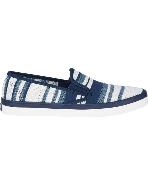premium selection 791c6 f06b9 ... Sperry Top-Sider - Blue Seaside Stripped Knit Sneaker - Lyst ...