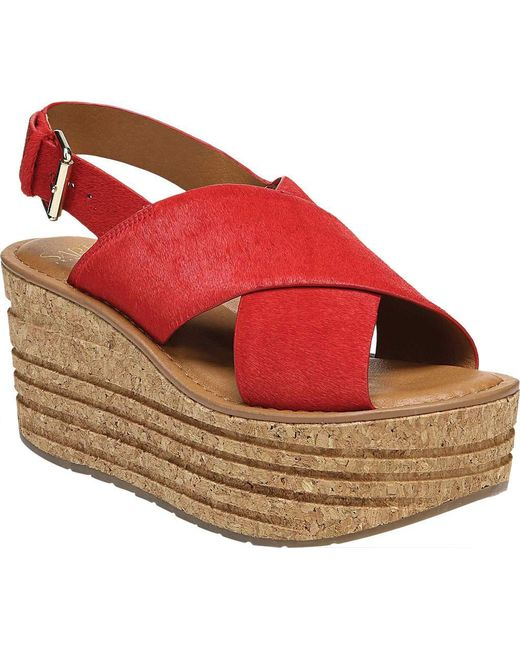Sarto - Red Caroline Wedge Slingback - Lyst