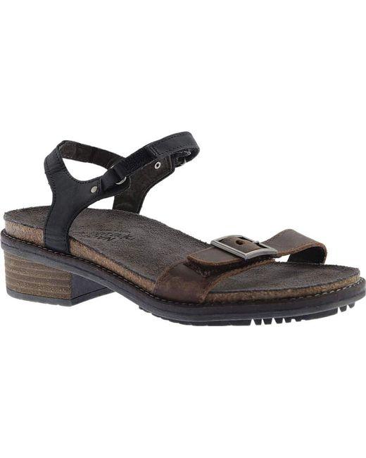 b4118a1a392 Naot - Black Boho Ankle Strap Sandal - Lyst ...