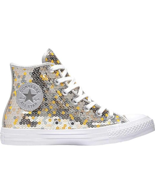 e6c32c6875a2 Converse - Metallic Chuck Taylor All Star High Top Sneaker - Lyst ...
