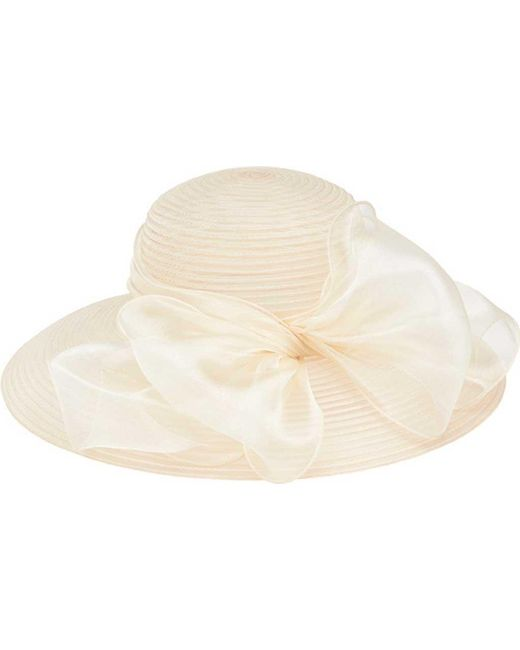 37022fb1 San Diego Hat Company - White Poly Dress Hat With Oversized Bow Drs1010 -  Lyst