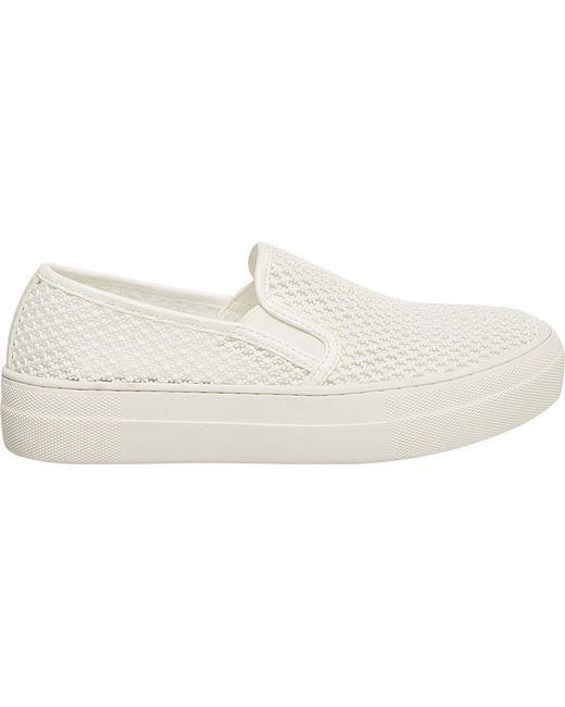 e1336a9f470 ... Steve Madden - White Gills Slip On Platform Sneaker - Lyst ...