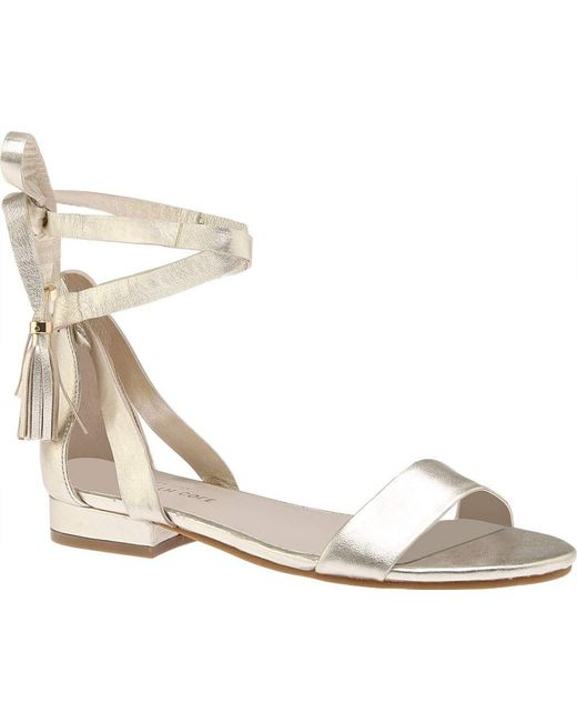 6d5b12d9a102 Kenneth Cole - Metallic Valen Lace Up Sandal - Lyst ...