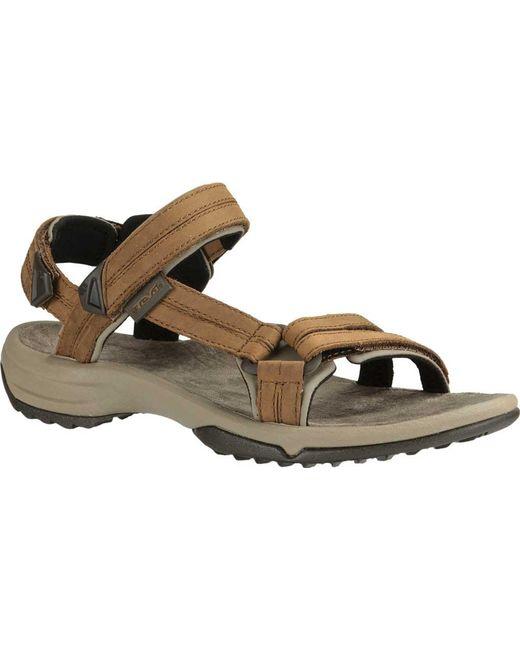 b3acd7c60e95 Teva - Brown Terra Fi Lite Leather Active Sandal for Men - Lyst ...