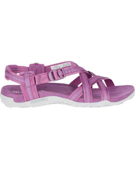 b67f41695eb5 Lyst - Merrell Terran Ari Lattice Sport Sandal in Purple - Save 64%