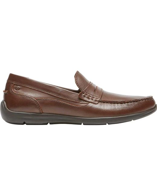 37a6b5a5fe4 ... Rockport - Brown Cullen Penny Loafer for Men - Lyst ...