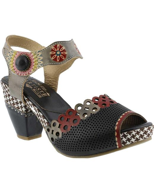 Spring Step - Black Jive Quarter Strap Sandal - Lyst