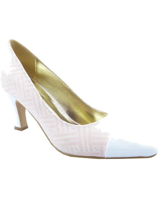 Bellini - White Zia Cap Toe Pump - Lyst