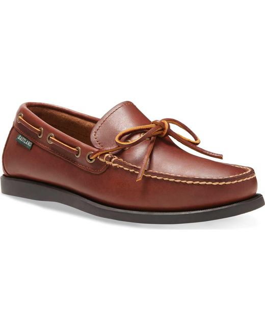 Eastland - Brown Men's Yarmouth Waxee Leather Camp Moc Slip On for Men - Lyst