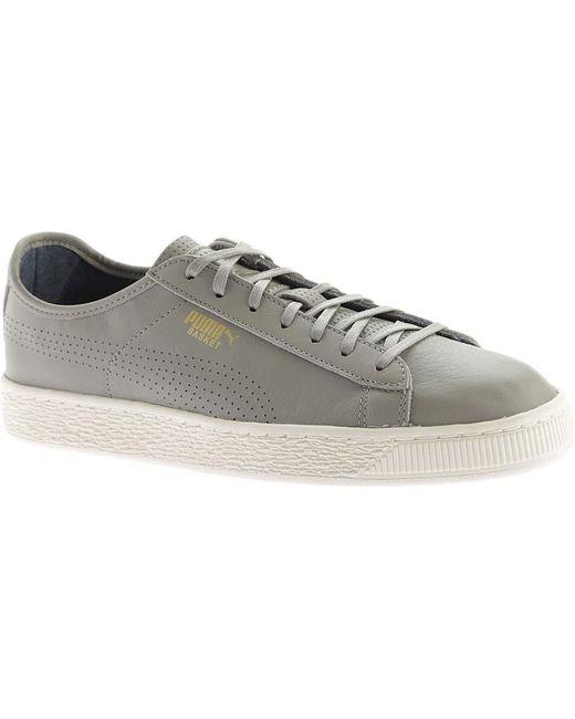 PUMA - Gray Basket Classic Soft Sneaker - Lyst