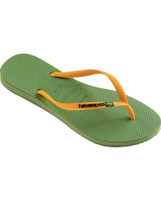 Havaianas - Green Slim Brazil Flip Flop - Lyst
