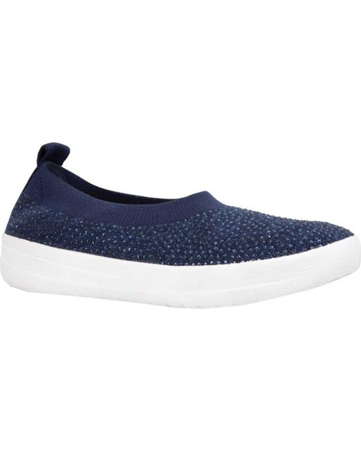 Fitflop - Blue Uberknit Ballet Flat - Lyst