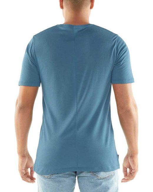 2fff34bd ... Icebreaker - Blue Elements Short Sleeve Pocket Crewe Baselayer for Men  - Lyst ...