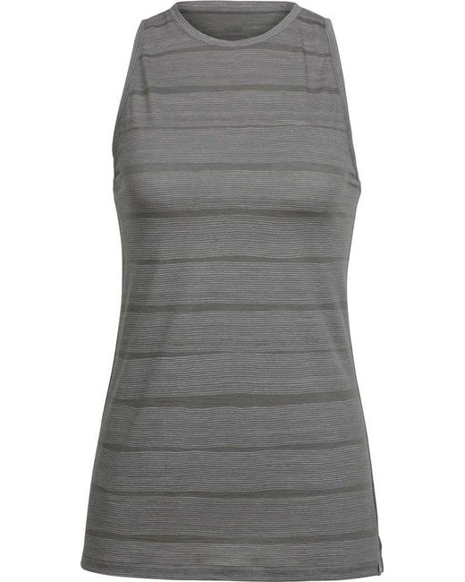 Icebreaker - Gray Aria Sleeveless Combed Lines Tank Top - Lyst