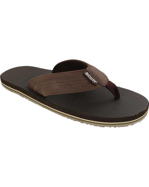 Scott Hawaii - Brown Makoa Flip Flop for Men - Lyst
