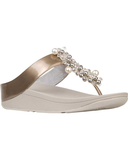 795cdb10b Fitflop - Metallic Deco Toe Thong Sandal - Lyst ...