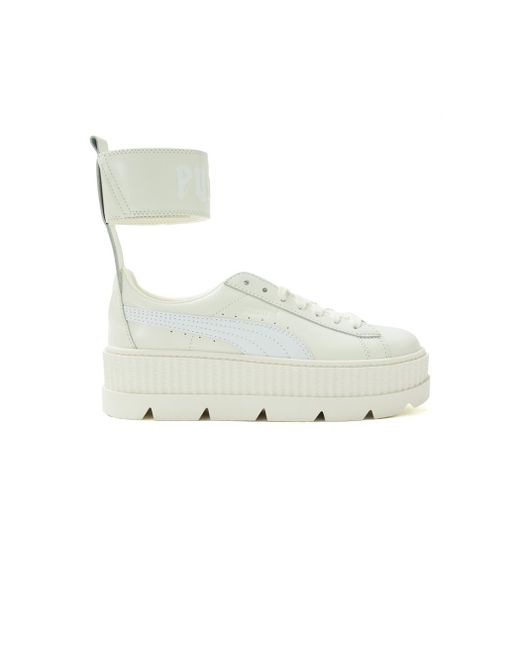 PUMA   White Fenty X By Rihanna Ankle Strap Sneakers   Lyst