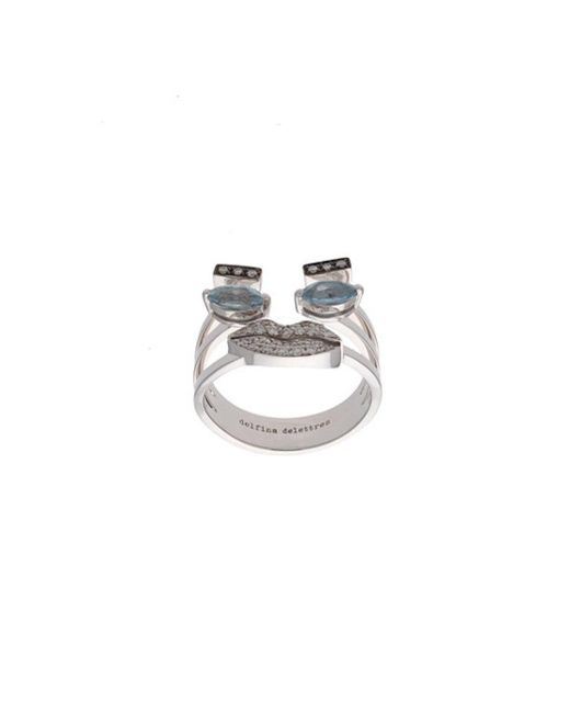 Delfina Delettrez | Blue Face Ring | Lyst